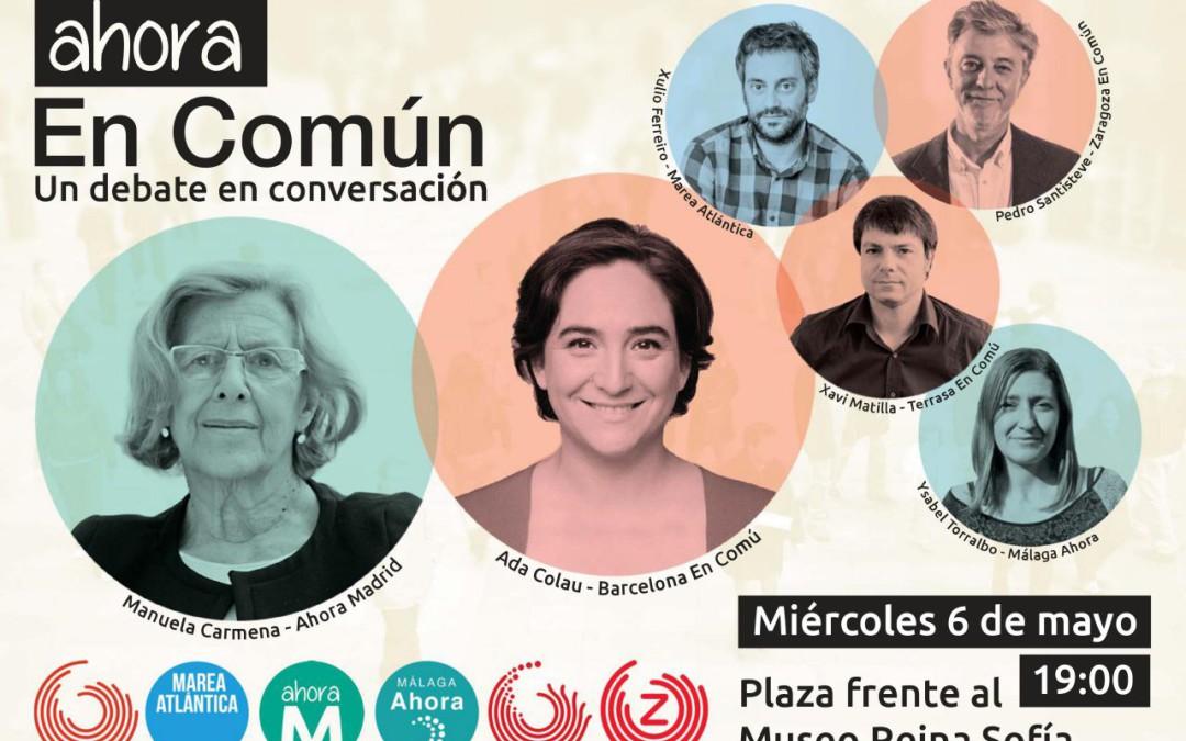 Ahora en Común. Pedro Santisteve participa en un debate-conversación con otras candidaturas municipalistas