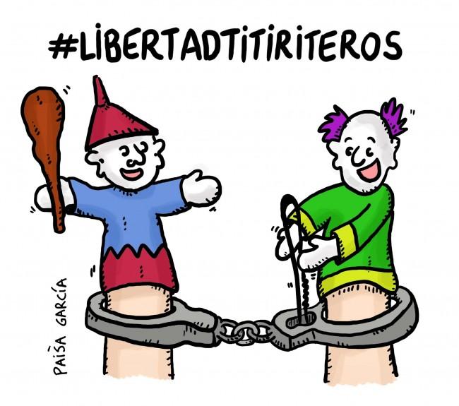Las plataformas ciudadanas municipalistas de Barcelona, A Coruña y Zaragoza exigen la retirada de los cargos contra los titiriteros detenidos