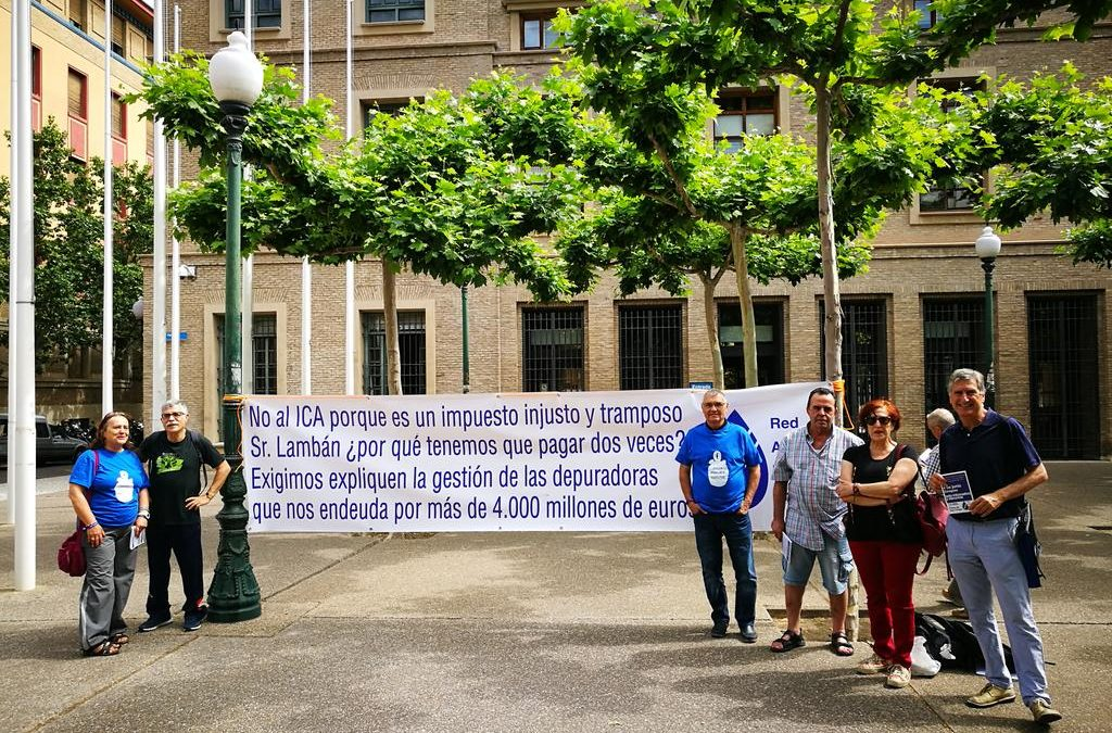 Apoyamos las convocatorias de la Red Agua Pública de Aragón
