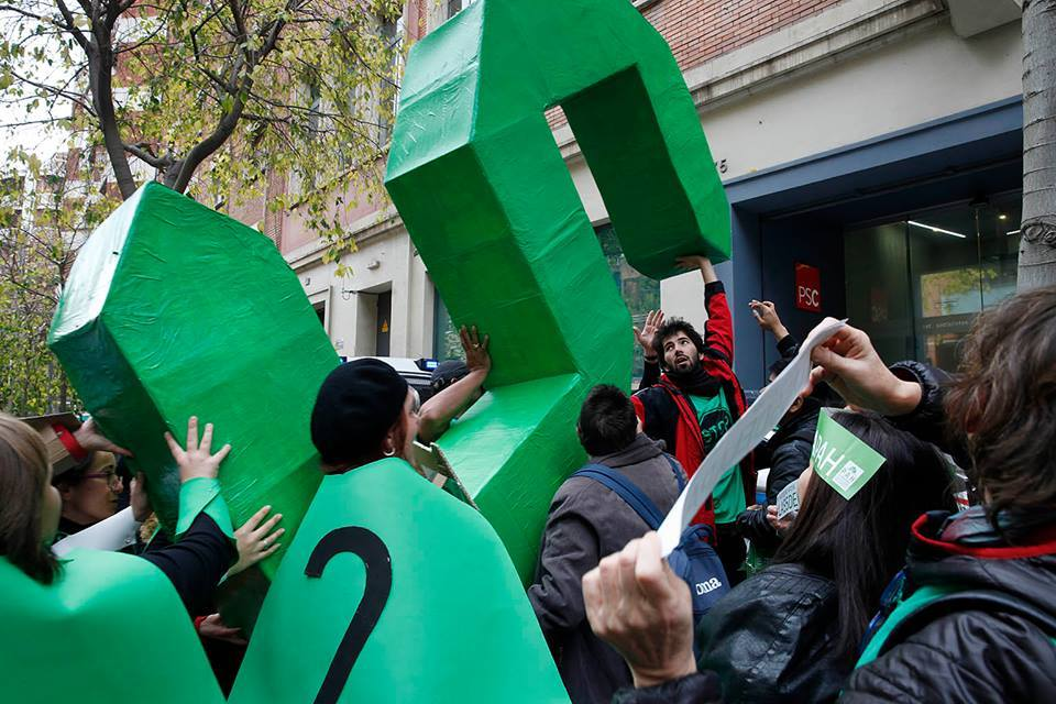 """Llevamos """"las 5 de la PAH"""" al Pleno de Zaragoza"""