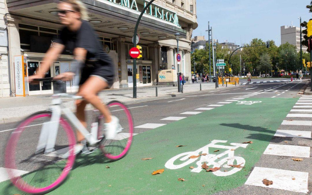 Paseo Sagasta: menos espacio para el coche, mejor para caminar e ir en bici