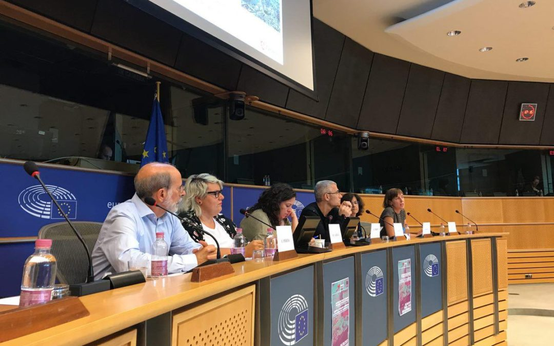 Compartimos la experiencia de la huerta agroecológica de Zaragoza en Bruselas
