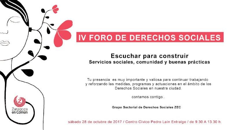 "IV Foro Derechos Sociales ""Escuchar para construir"""