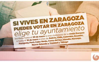 Si vives en Zaragoza, puedes votar en Zaragoza