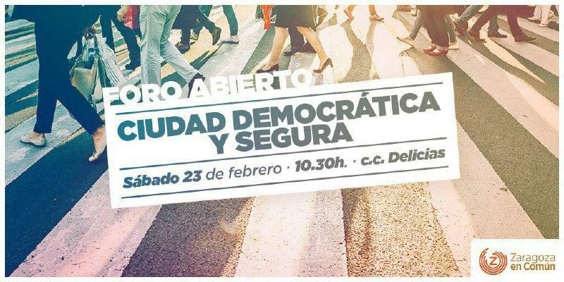 Foro Abierto Ciudad Democrática y Segura