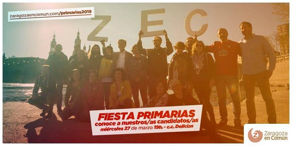 Primarias Zaragoza en Común: semana decisiva
