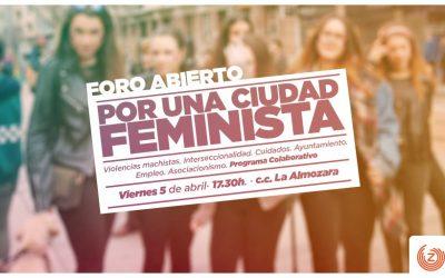 Foro Abierto «Por una ciudad feminista»