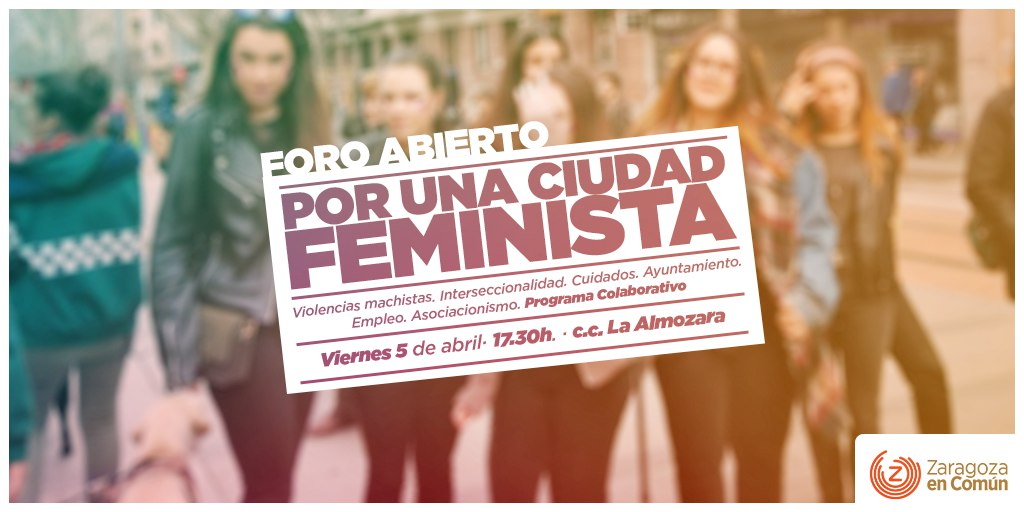 """Foro Abierto """"Por una ciudad feminista"""""""