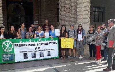Zaragoza en Común muestra su apoyo a los Colegios Públicos afectados por la paralización de los Presupuestos Participativos
