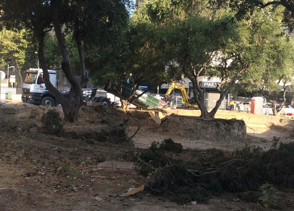 Zaragoza en Común denuncia la falta de transparencia en las obras de la Plaza Salamero